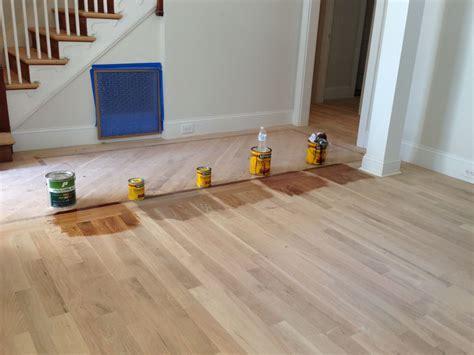 Minwax Floor Stains  White Oak Flooring  Left