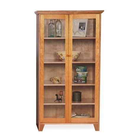 martin ivory glass door bookcase custom glass door shaker bookcase natural cherry walnut