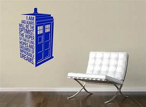 dr who39s tardis decal quote police call box quote With the best of doctor who wall decals