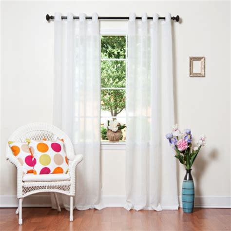 Crushed Voile Curtains Grommet by White Crushed Voile Sheer Grommet Top Curtain 84 Quot L X 52 W