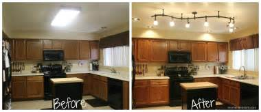 mini kitchen remodel new lighting makes a world of difference