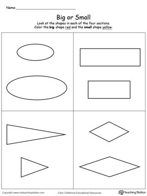 comparing shapes big  small myteachingstationcom