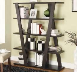 Double Curio Fireplace by Unique Wooden Bookshelf