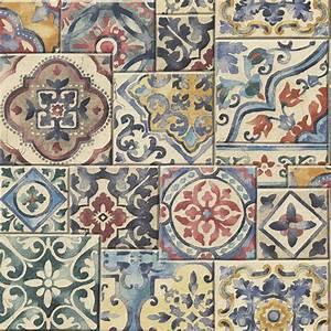 a street prints marrakesh tiles wallpaper 2701 22310 With markise balkon mit tapete vintage chic