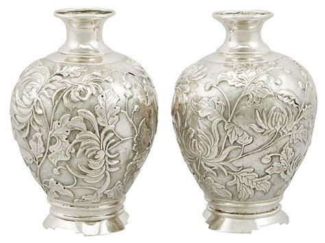 Silver Vases For Sale by Japanese Silver Bud Vases Antique Circa 1900 Antique