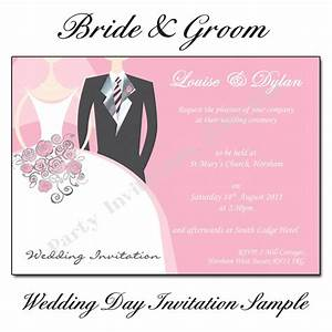 Bride and groom wedding invitations buy now for Evening wedding invitation wording from bride and groom