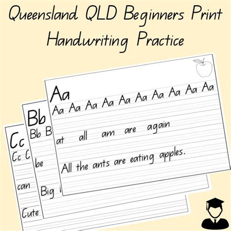 alphabet handwriting practice sheets   letters qld