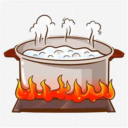 Boiling Pot Clipart Water Cooking Maceta Boil
