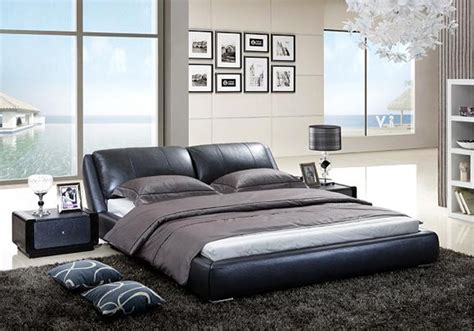 Leather Bed by Edmund Italian Leather Bed Frame Fancy Homes