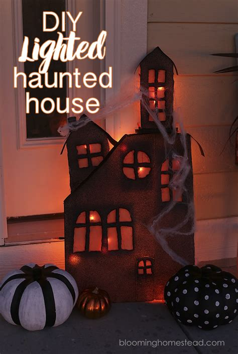 lighted haunted house blooming homestead