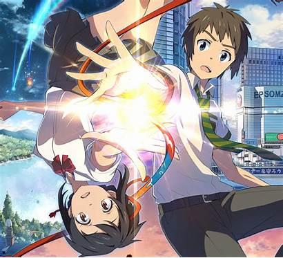 Anime Mitsuha Taki Tachibana Miyamizu Kimi Wa