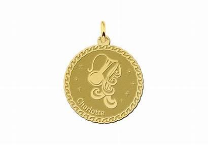 Gouden Hanger Ronde Sterrenbeeld Waterman Aquarius Golden