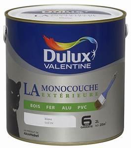 peinture dulux valentine la monocouche exterieure blanc 2l With peinture pour pvc exterieur