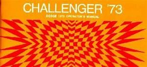 1973 Dodge Challenger Owners Manual User Guide Reference