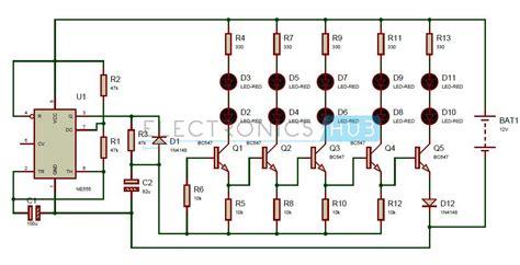 Bike Turning Signal Indicator Circuit Using Timer
