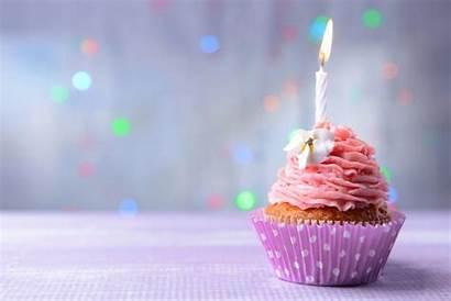 Birthday Happy Cake Celebrate Cupcake Background Table