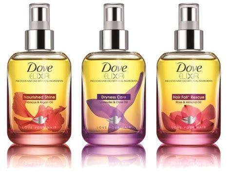 Dove Elixir Hair Oil On Packaging Of The World