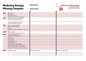marketing strategy planning template With promotional strategy template