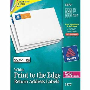 Avery return address print to the edge labels for color for Avery 4x2 labels