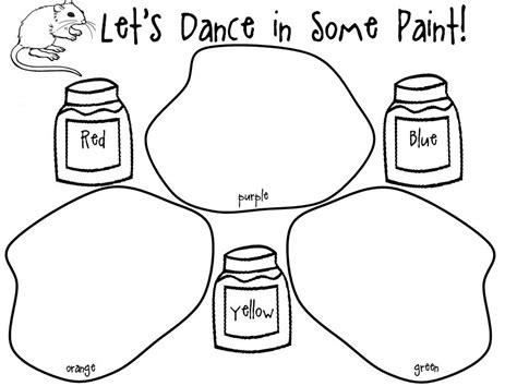 mrs miner s kindergarten monkey business rainbow science 648   mouse paint dance