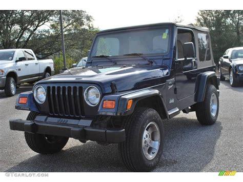 2001 patriot blue pearl jeep wrangler sport 4x4 23080966 gtcarlot car color galleries