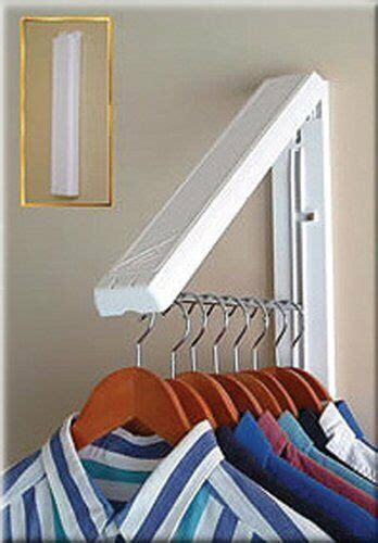 wall mount collapsible hanger drying holder drainer clothes laundry bar indoor ebay
