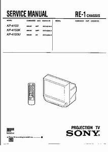 Sony Kp-41s3  Kp-41s3k  Kp-41s3u Service Manual