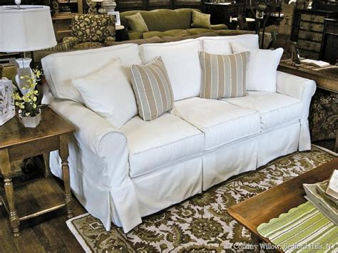 slip covered sofas country cottage sofa rustic house sofas help the living