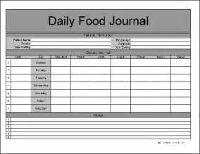 Excel Log Template Free Numbered Row Daily Food Journal From Formville