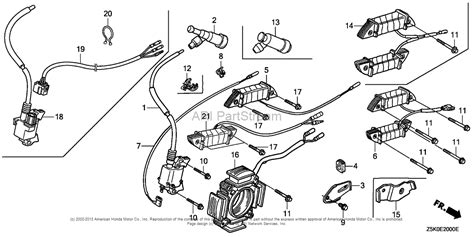 honda engines gx270ut2 qag2 engine tha vin gcbgt 1000001 parts diagram for ignition coil 1