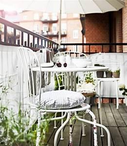 Table Balcon Ikea : table et chaises l ck blanches sur un balcon ikea outdoor on my porch pinterest ~ Preciouscoupons.com Idées de Décoration