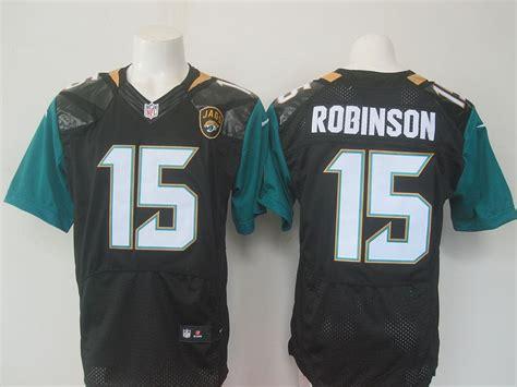 NFL Jacksonville Jaguars 15 Robinson Black Nike elite 2016 ...