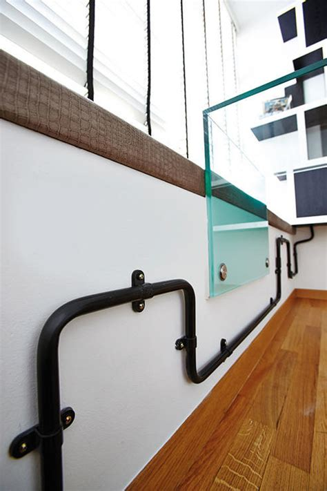 Industrial Style Homes With Exposed Pipes Trunking