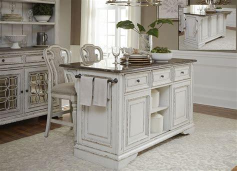 paula deen kitchen furniture magnolia manor antique white kitchen island set from