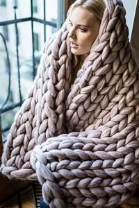 chunky knit blanket large 100 merino wool by wool