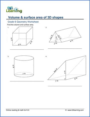 sixth grade math worksheets  printable  learning