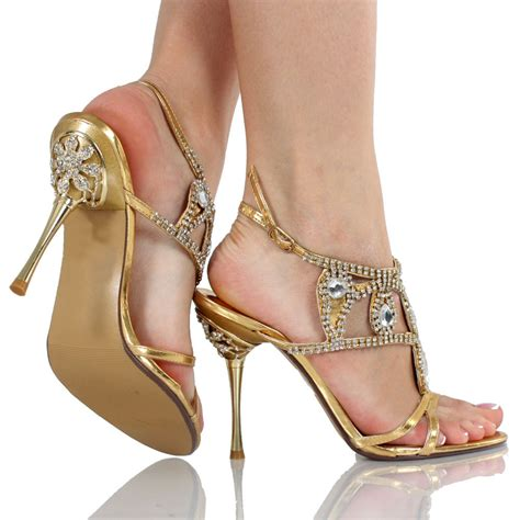 Gold Crystal Wedding Shoes