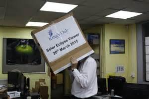 Cardboard Box Solar Eclipse Viewer