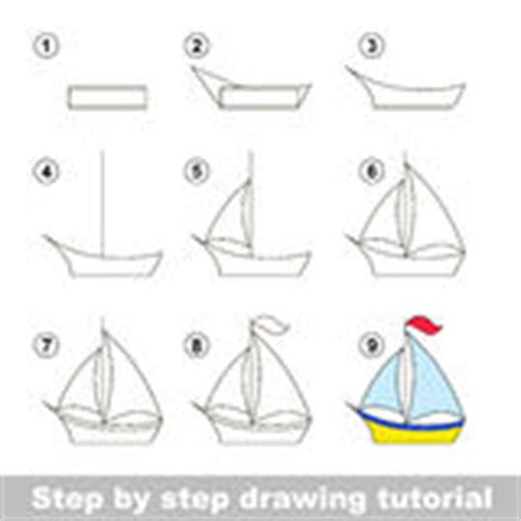 How To Draw A Boat Art Hub by Boat Drawing Worksheet Stock Vector Image Of