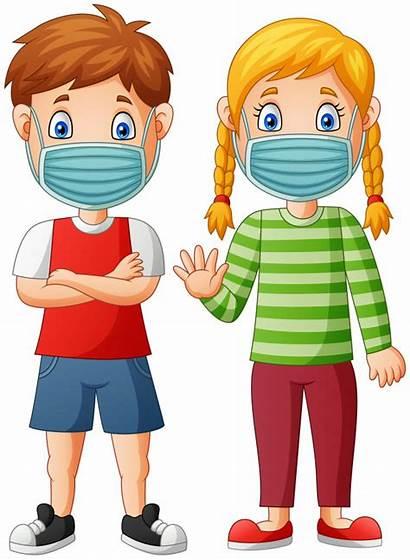 Mask Cartoon Wear Children Virus Protective Premium