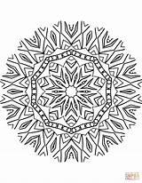 Kaleidoscope Coloring Mandala Mandalas Magnificent Creatures Supercoloring Template Kalejdoskop Library Templates Drukuj sketch template