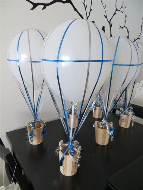 Diy Air Balloon Centerpieces For Travel Themed Wedding