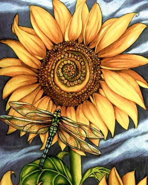 sunflower art print  claudiatremblay