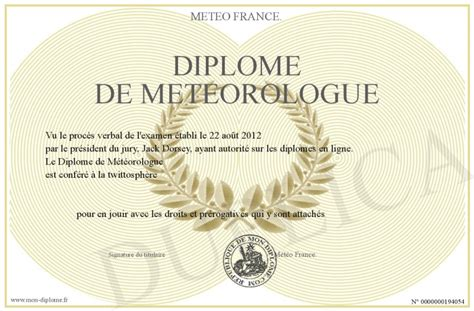 traduction bureau anglais diplome de meteorologue