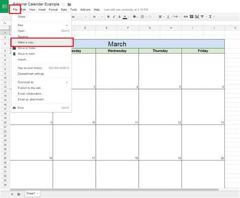 year calendar google sheets ten printable calendar