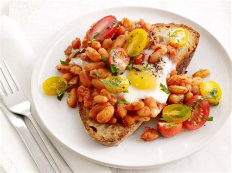 baked eggs  beans  toast recipe food network
