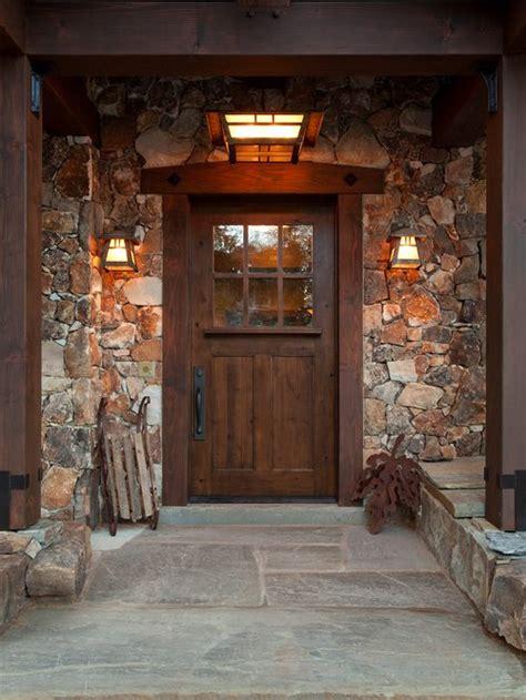 stone  front door ideas pictures remodel  decor