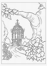 Coloring Gazebo Gorgeous Wedding sketch template