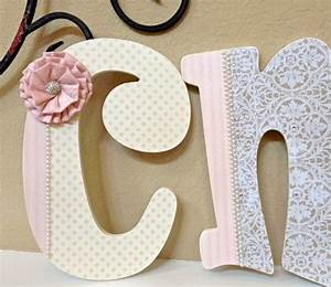 custom nursery letters baby girl nursery decor wooden With personalized wall letters for nursery