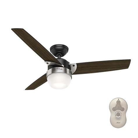 matte black ceiling fan hunter flare 48 in led indoor matte black ceiling fan